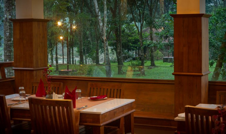 Quiet by the river, CGH Earth - riverside retreat- view from the restaurant